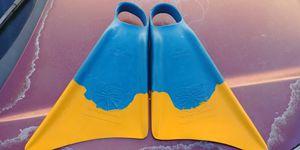Churchill boogie board fins swim fins medium large for Sale in San Diego, CA