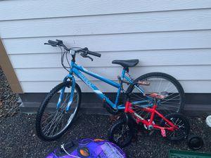 Woman's mountain bike and kids bike for Sale in Portland, OR