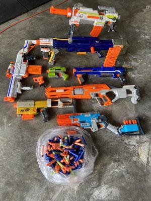 Nerf Guns w/ Nerf Bullets for Sale in Arlington, TX