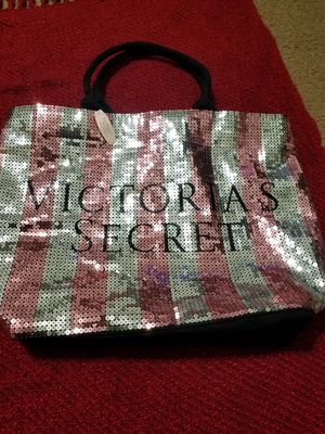 (NEW) Victoria Secret Sequin Large Tote Bag for Sale in Grand Prairie, TX