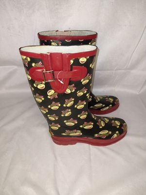 Women's Western Chief Monkey Rain Boots Size 9 for Sale in Duluth, GA