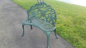 $150.00 - Solid Cast Iron Bench, Rose Garden Design - Please read description for Sale in Miami, FL