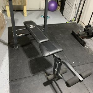 Adjustable Bench With Leg Attachments for Sale in Baytown, TX