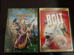2 Disney's DVD: Tangled & Bolt for Sale in Miami, FL