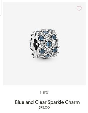 Pandora Blue and clear sparkle charm for Sale in HOFFMAN EST, IL