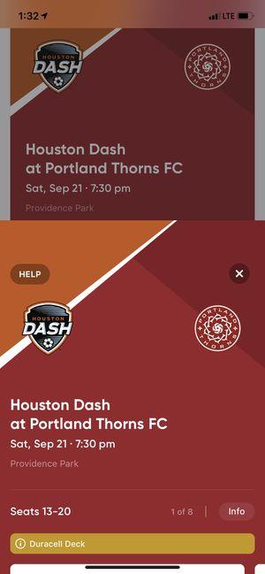 Huston Dash vs Portland Thorns Sat sep 21 for Sale in Vancouver, WA