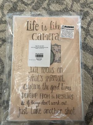 Life is like a camera inspirational wall art for Sale in Escondido, CA