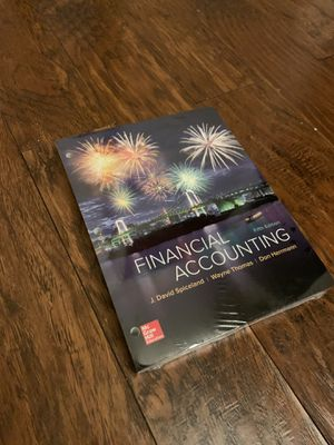 Financial Accounting Fifth Edition Loose Leaf Textbook Sealed for Sale in Garland, TX
