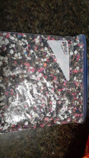 Fish tank colorful gravel Decor bags!(About 6pounds each) for Sale in Chicago, IL