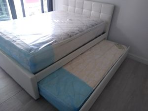 Full twin trundle bed with mattress brand new free delivery for Sale in North Miami Beach, FL