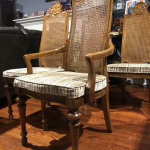 DREXEL HERITAGE. Vintage Set of Four Cane Back Dining Chairs. Delivery available🚚. for Sale in Fairfax, VA