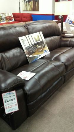 Ashley leather sofa for Sale in Uniontown,  PA