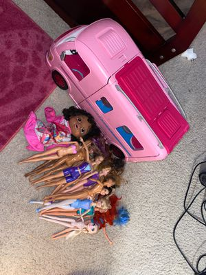 Barbie camper and dolls for Sale in Ashland, MA