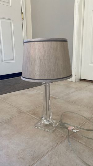 Clear silver gray table modern lamp for Sale in Temecula, CA