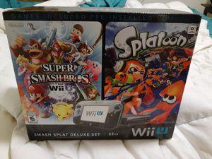 Wii u smash splatoon deluxe set for Sale in Kent, WA