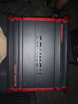 Crunch 2000 w amp. for Sale in Rancho Cucamonga, CA