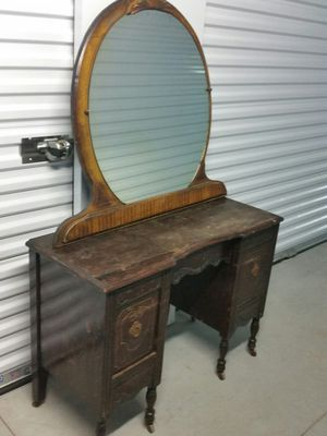 Antique vanity with mirror for Sale in Apex, NC