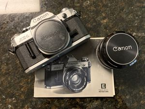 Pristine condition Canon ae1 with 3 lenses and flash and extender for Sale in Saint AUG BEACH, FL