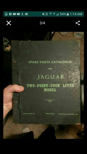 Jaguar Parts Catalogs Collectables Vintage for Sale in Atascocita, TX