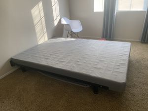 Queen box spring and bed frame for Sale in Bakersfield, CA