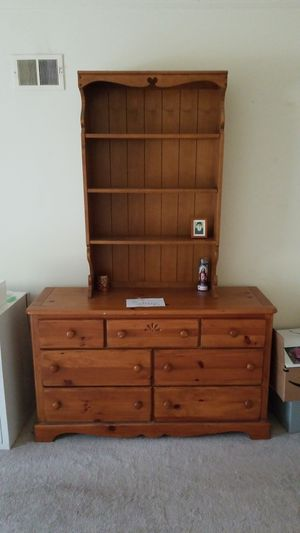 Wood dresser and bookshelf-hutch for Sale in Potomac, MD