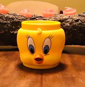1992 Promotional Tweety Bird Looney Tunes Plastic Mug for Sale in Colorado Springs, CO