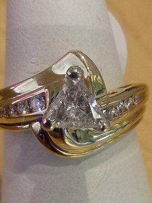 Engagement trillion diamond ring for Sale in Tucson, AZ