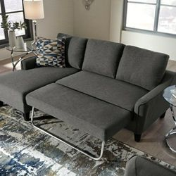 Jarreau Gray Sofa Chaise Sleeper 👉$39 DOWN payment only 100 days same as cash for Sale in Baltimore,  MD