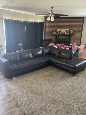 Leather sectional sofa couch for Sale in Ontario, CA