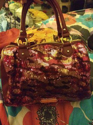 BETSEY JOHNSON BURGUNDY SEQUIN BAG for Sale in Orange, CA