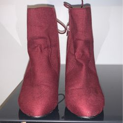 Burgundy Boots With Heels SZ 8.5 for Sale in Washington,  DC