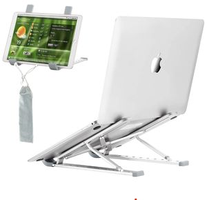 Laptop Stand, Portable 9 Height Adjustable Aluminium Alloy Laptop Holder for Desk, Eye-Level Ergonomic Notebook Riser Compatible with Macbook Air Pro for Sale in Syracuse, NY