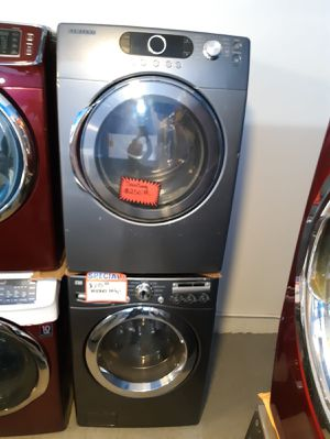 Samsung front load washer and dryer set working perfectly for Sale in Baltimore, MD