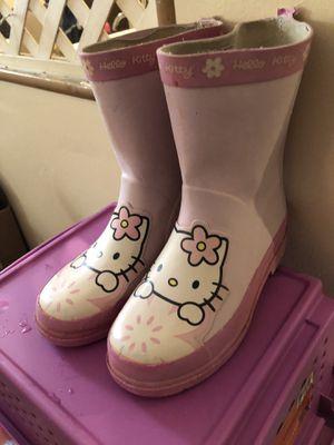 Hello Kitty Girls Rain Boots 13/1 for Sale in La Vergne, TN