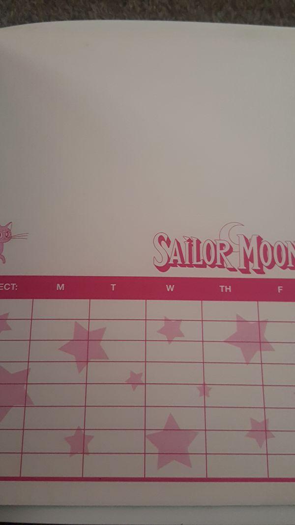 Sailor moon binder