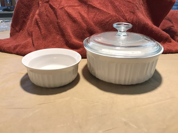 Glass cookware, storage and serving dishes
