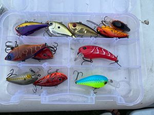 Assorted bass fishing crankbaits for Sale in San Jose, CA