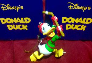 Disney President's Edition Donald Duck Hockey Puck Mickey Mouse Grolier Ornament for Sale in La Vergne, TN