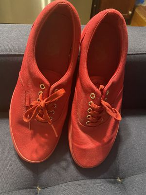 All Red Vans size 10.5 men 12 woman for Sale in Los Angeles, CA