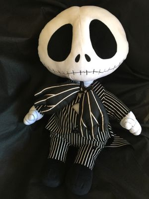 Big JACK SKELETON PLUSH NIGHTMARE BEFORE CHRISTMAS for Sale in Lacey, WA
