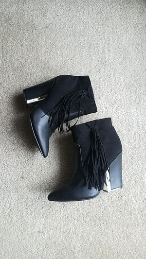 Black fringe booties for Sale in Germantown, MD