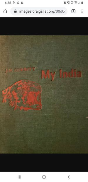 My India 1st edition JIM Corbett for Sale in Big Lake, MN