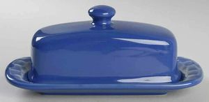 Longaberger Woven Traditions Colbalt Cornflower Blue 1/4 Pound Covered Butter Dish for Sale in Portsmouth, VA