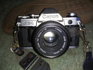 CANON -- ( AE-1 ) 35mm CAMERA with 50mm Lens for Sale in Wethersfield, CT