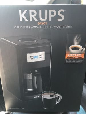 KRUPS 12 Cup Programmable Coffee Maker for Sale in Philadelphia, PA
