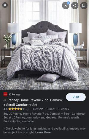 Queen comforter set & 7 piece for Sale in Mt. Juliet, TN