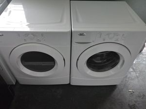 NEWER MODEL WHIRLPOOL FRONTLOADER WASHER AND DRYER SET for Sale in Raleigh, NC