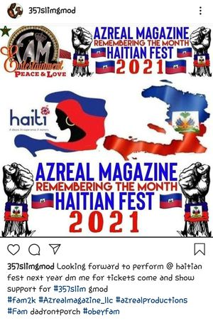 357SLIM HAITIAN FESTIVAL TICKETS for Sale in Hollywood, FL