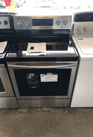 Brand new Samsung stainless steel Electric range. 01year factory warranty for Sale in Fort Belvoir, VA