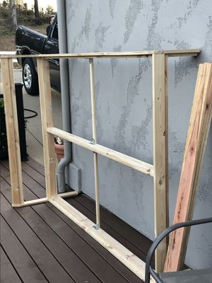 Full bed frame with slats for Sale in Rocklin, CA